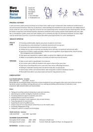 Nursing Curriculum Vitae Amazing Free Nursing Resume Template Coachoutletus