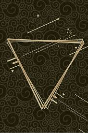 Black Inverted <b>Triangle Creative Simple</b> Moiré Poster Background ...
