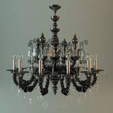antique chandelier 3d model max obj mtl 3ds fbx 1