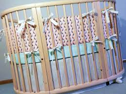 custom oval crib bedding  fits stokke crib  custom boutique