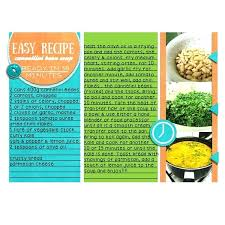 pages recipe card template templates 3 full page