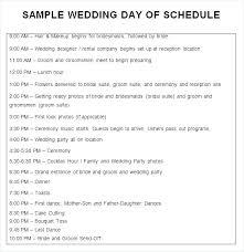Wedding Ceremony Timeline Template