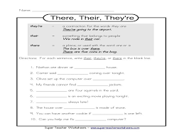 Their-there-they-re-worksheet & Homophones Worksheets There Their ...