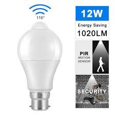 Us 3 06 23 Off B22 Pir Lamp Bulb 12w Led Bulb Pir Motion Sensor Ac220v 110v Led Night Light For Corridor Aisle Stairs Balcony Lampada In Led Bulbs