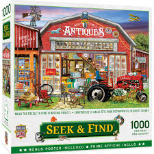 Find lost, stolen, or hidden artifacts and work through puzzles. Seek Find Antiques For Sale 1000 Piece Jigsaw Puzzle