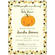 Pumpkin Invitations Template Pumpkin Baby Shower Invitations Templates Invitation Template