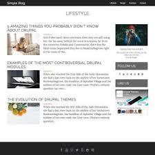 Simple Blog Drupal Theme 2018 Drupal 8 Theme + Drupal 7 Theme ...