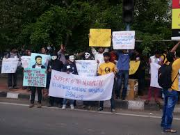 net neutrality in  demonstration by the software movement of karnataka in support of net neutrality 2015