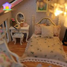 diy sweet wooden miniature dollhouse handmade assembly model house baby toy gift 3 3 of 8