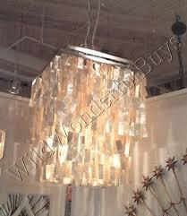 coastal decor square capiz shell chandelier oyster bathroom dining rectangle