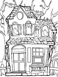 Small Picture Haunted house coloring pages with ghosts and bats ColoringStar