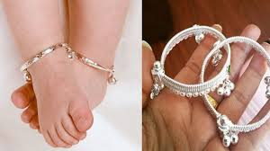 Paijan Design For Baby New Silver Baby Anklet Designs Latest Baby Payal Designs Images
