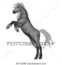 white horse rearing.  Horse Stock Illustration  White Horse Rearing 3D Render Fotosearch Search  EPS Clip Art To Horse Rearing E