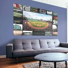 boston red sox wall art red park then and now mural officially licensed giant removable boston on boston red sox canvas wall art with boston red sox wall art red park then and now mural officially