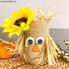 scarecrow fall crafts for kids scarecrow mason jar
