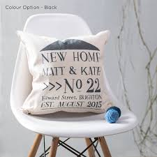 Awesome New Home Cushion Personalised For New Home Owners
