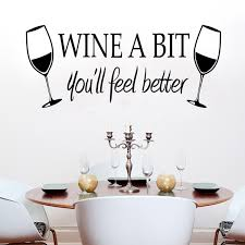 wine a bit vinyl wall art decals kitchen wall decor vinyl wall quotes stickers dinning kitchen removable decor mural decals in wall stickers from home  on kitchen wall art lettering with wine a bit vinyl wall art decals kitchen wall decor vinyl wall