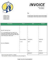 Business Receipt Cleaning Invoice Form Printable Free Cleaning Invoice Templates