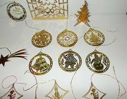 Messing Blech Christbaumschmuck Ornamente Nostalgie 20 St