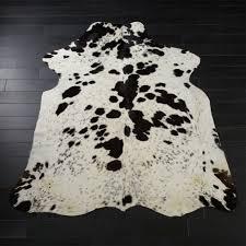 black and white cowhide rug
