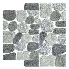 white bath rug set gray and bathroom rugs pebbles sets 3 piece