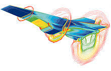 computational fluid dynamics. a simulation of the hyper-x scramjet vehicle in operation at mach-7. fundamental basis almost all cfd computational fluid dynamics u