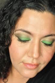 st patrick s day green eyeshadow makeup tutorial