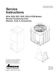 amana c model specifications