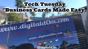 Business Cards Made Easy Tech Tuesday At Digitald0m Youtube