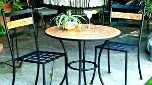 metal bistro table base
