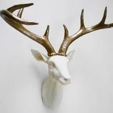 ivory deer head faux taxidermy stag head faux deer head sta
