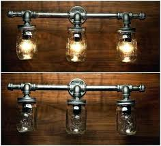 rustic bathroom lighting fixtures. Rustic Bath Light Fixtures Best Industrial Lighting Design Bathroom .