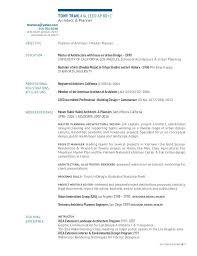 Project Architect Resume Sample Resume Resume Free Resume Templates