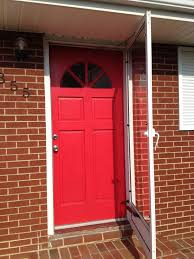 red front door on brick house. Red Front Door With Brick Wall Ideas On House