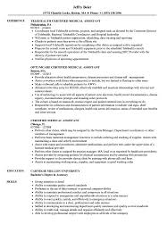 Sample Medical Assistant Resume Certified Medical Assistant Resume Samples Velvet Jobs 40