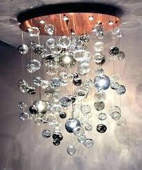 cascading glass bubble chandelier jumbo hand blown g glass bubble chandelier