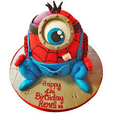 Spiderman Minion Cake Buy Online Free Next Day Delivery New Cakes