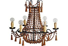 it is all little wooden beads and tassels i think it is made in the 20 s or 30 s