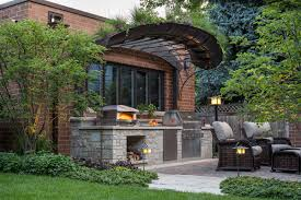 outdoor kitchen pizza oven design. big backyard pizza oven outdoor kitchen design a