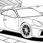 60 Kleurplaat Porsche Kleurplaat 2019