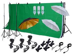photo studio lighting photography 3 backdrops stand muslin photo light kit