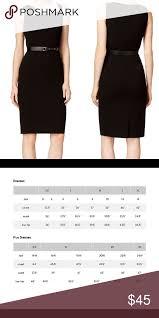 Calvin Klein Black White Contrast Sheath Dress Calvin Klein