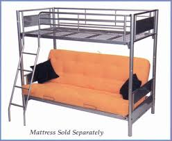 Bunk Bed Featuring; *Single Bed at top with safety guards *Futon that  reclines to a double bed and can fold up to use as a lounge. *Ladder  COLOURS -
