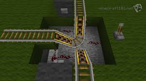 minecarts and railways minecraft  the lever controls the direction of the travel push either button to go note how the buttons are connected to all the powered rails by a redstone wire