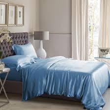 High Quality Silk Bed Linens, Machine Washable & Dark Blue Silk Duvet Cover Adamdwight.com
