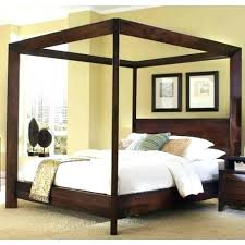 wood canopy bed frame – Living Home Source Free