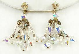crystal bead chandelier earrings garden party collection vintage jewelry