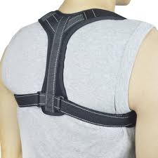 Black Reflective Stripe Back Support Belt Correcting Tape For Bone Care Medical Brace Posture Corrector
