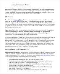 Sample Year End Performance Reviews Sample Performance Review 7 Documents In Word Pdf