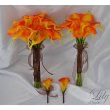 Calla Lily Color Chart Orange Fire Real Touch Calla Lily Real Touch Calla Lilies